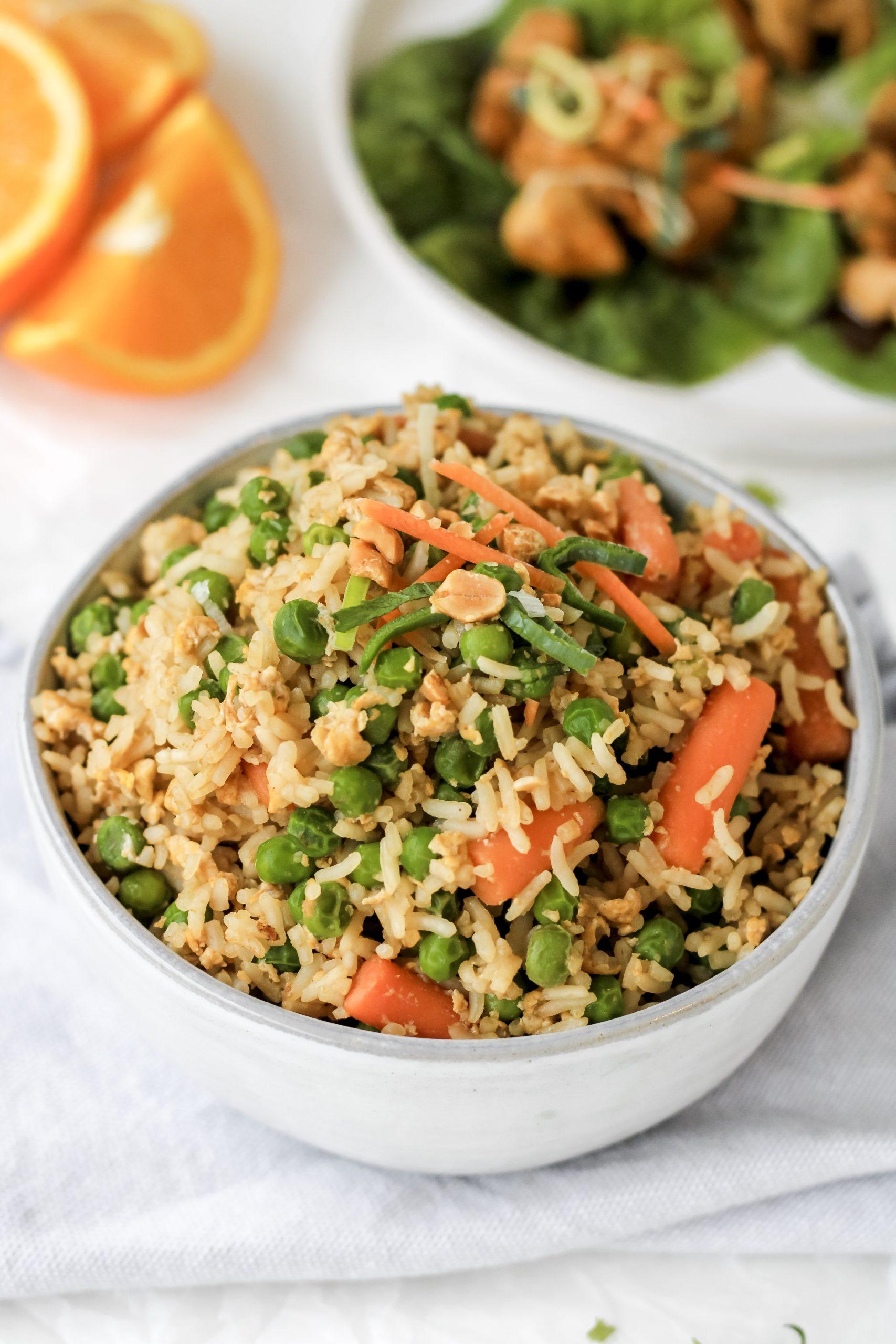 easy fried rice (healthy & gluten-free)