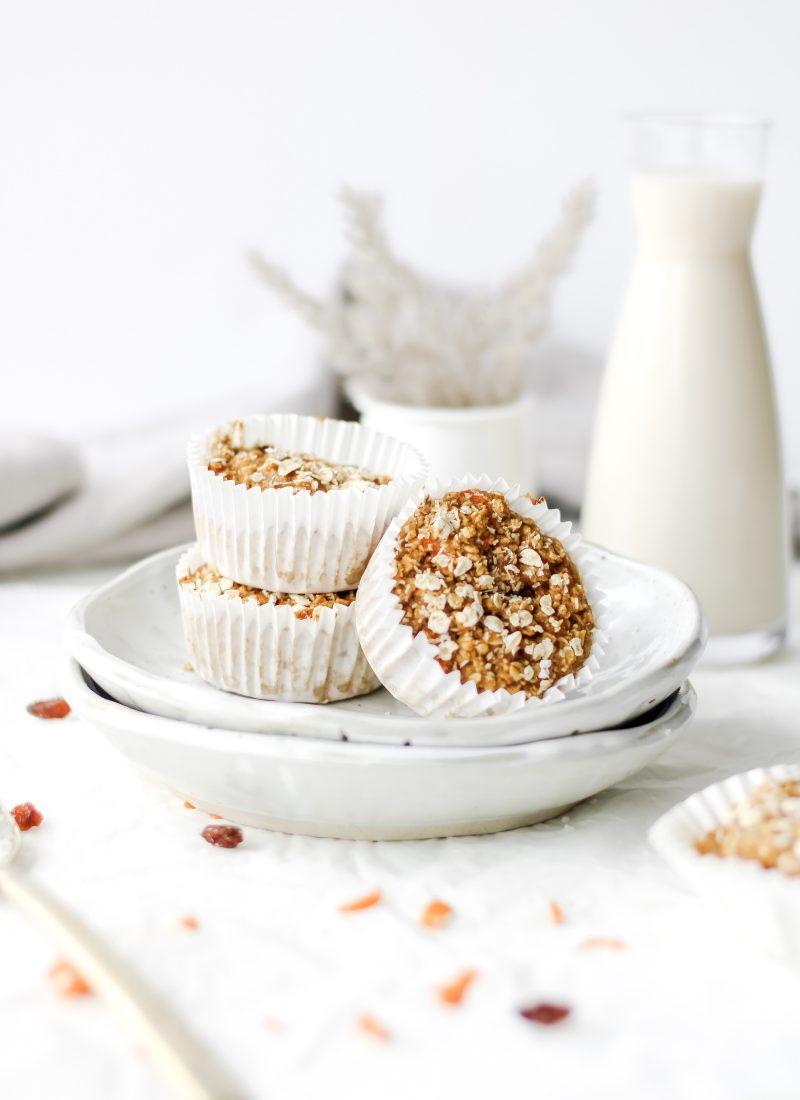 carrot cake oat muffins (healthy & gluten-free)