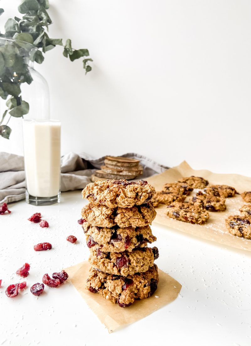 cranberry chocolate chunk oatmeal cookies