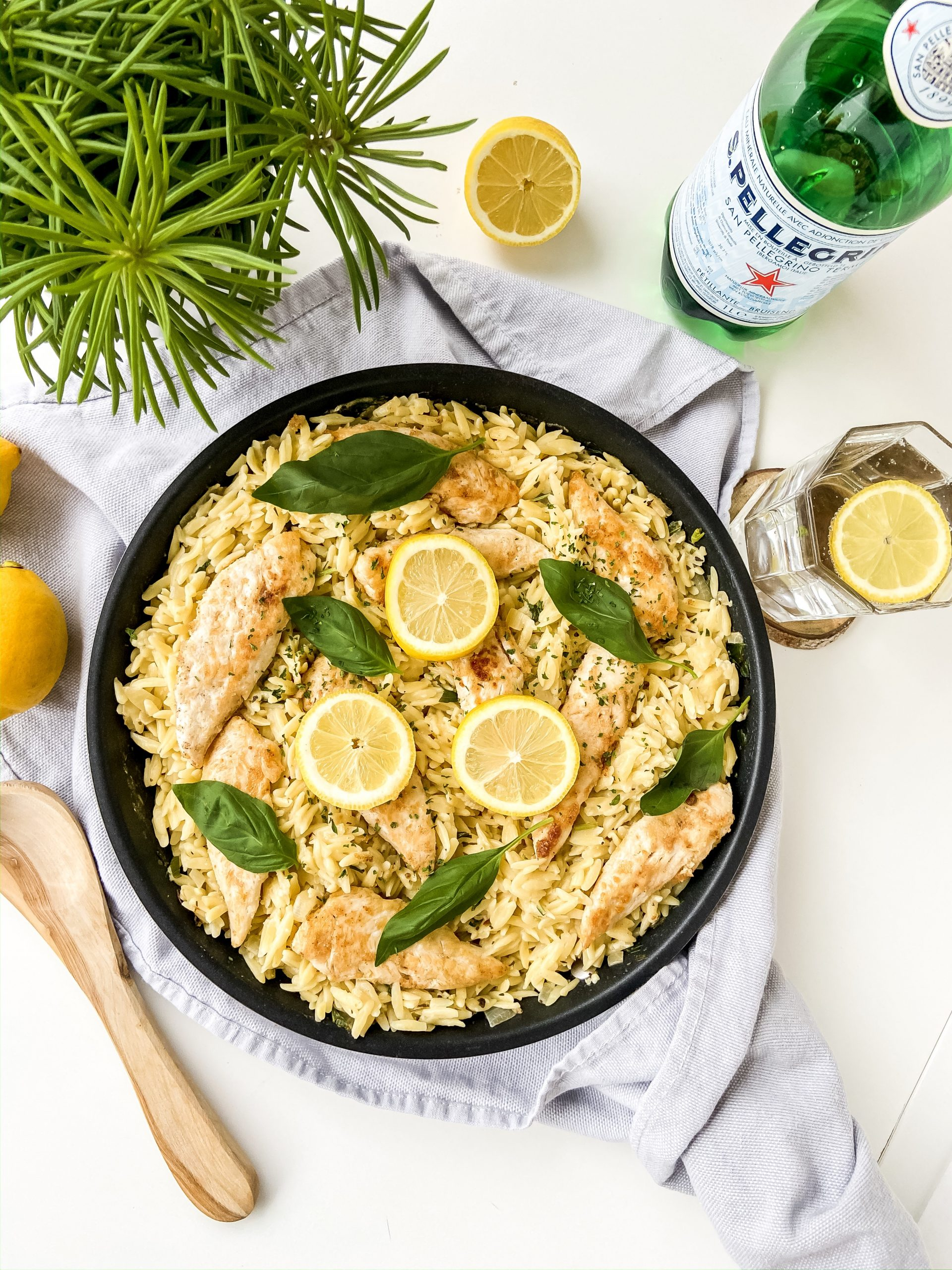 lemon basil orzo & chicken