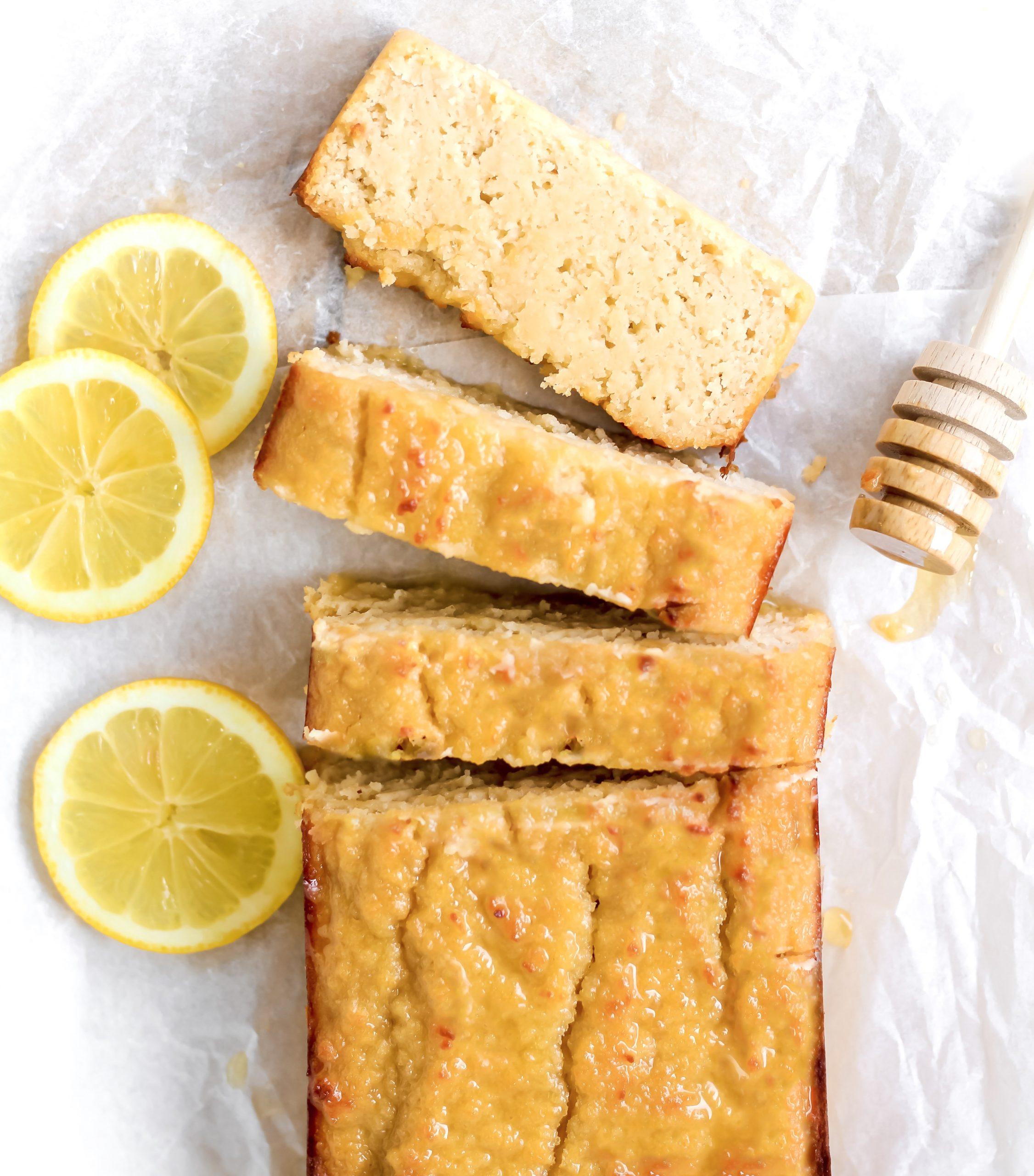 healthy lemon bread (paleo, gluten-free)
