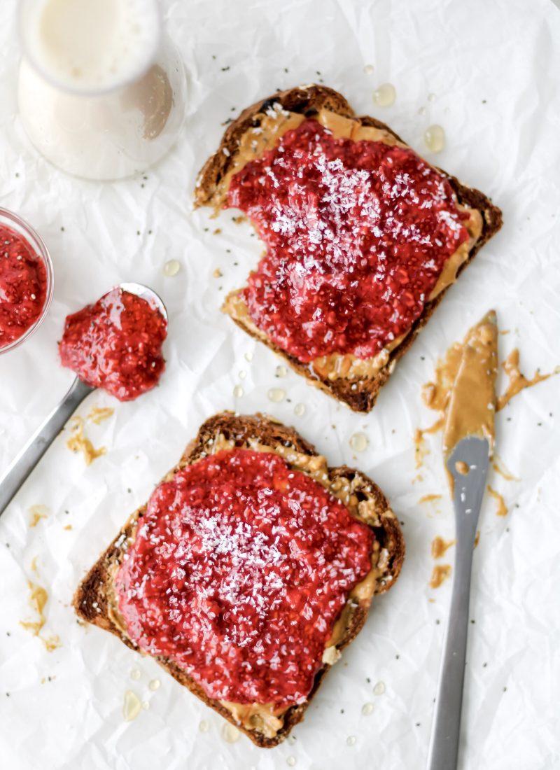 berry chia seed jam (easy & homemade!)