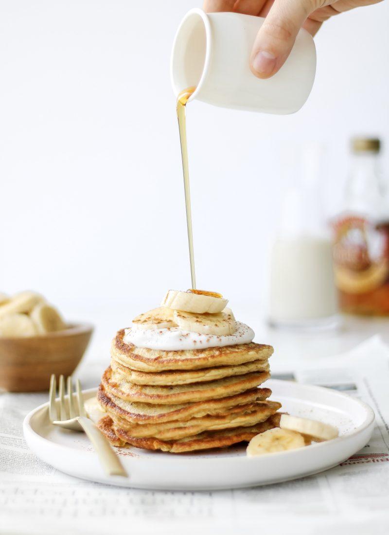healthy oatmeal pancakes (GF & DF)