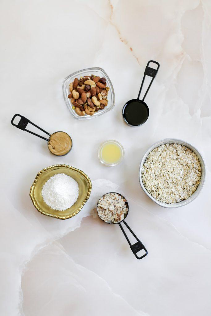 healthy homemade granola ingredients