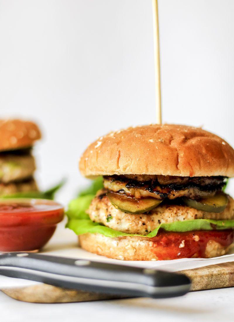 Hawaiian BBQ Turkey Burgers (hidden veggies!)