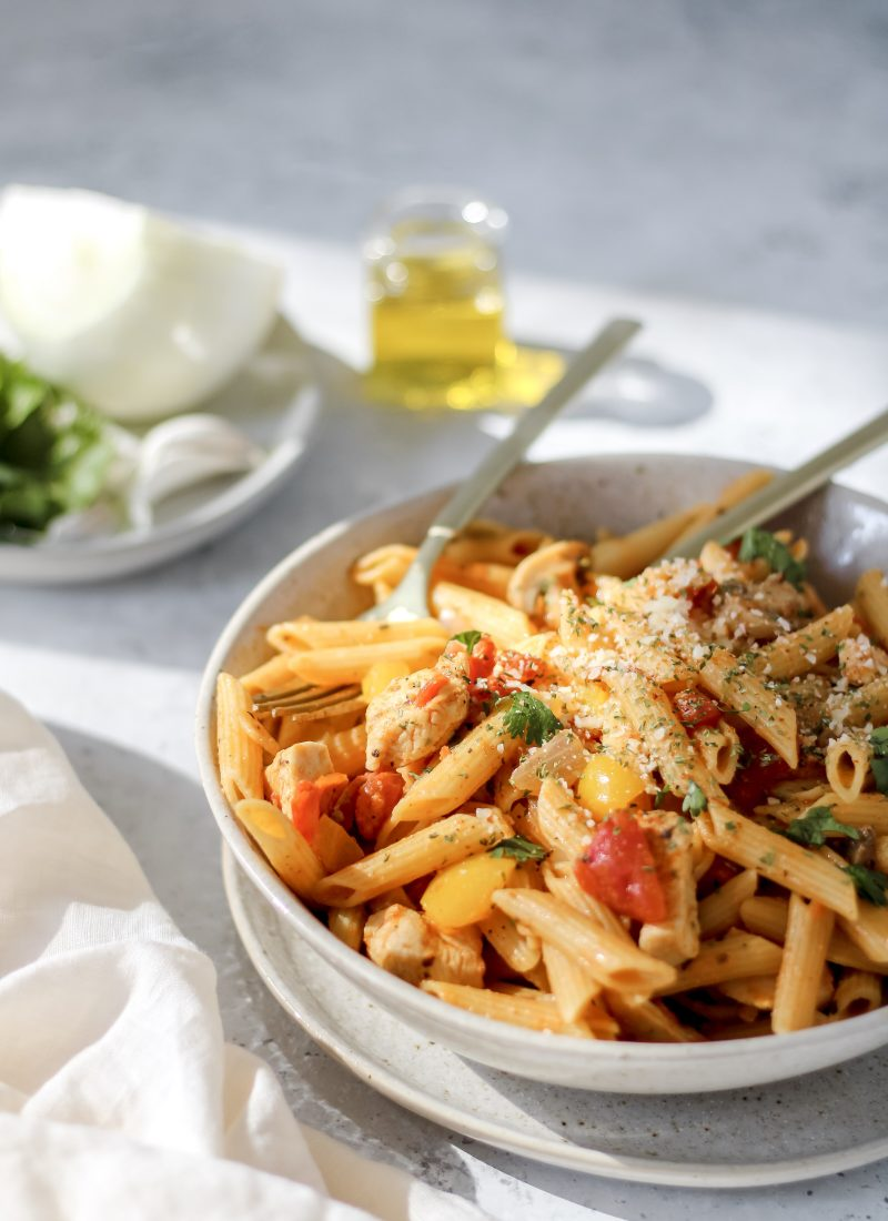 creamy cajun pasta (dairy-free!)