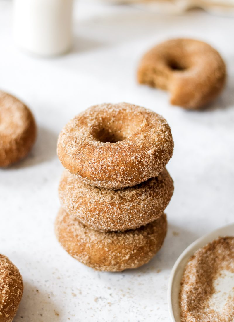 baked cinnamon donuts (100% whole wheat!)
