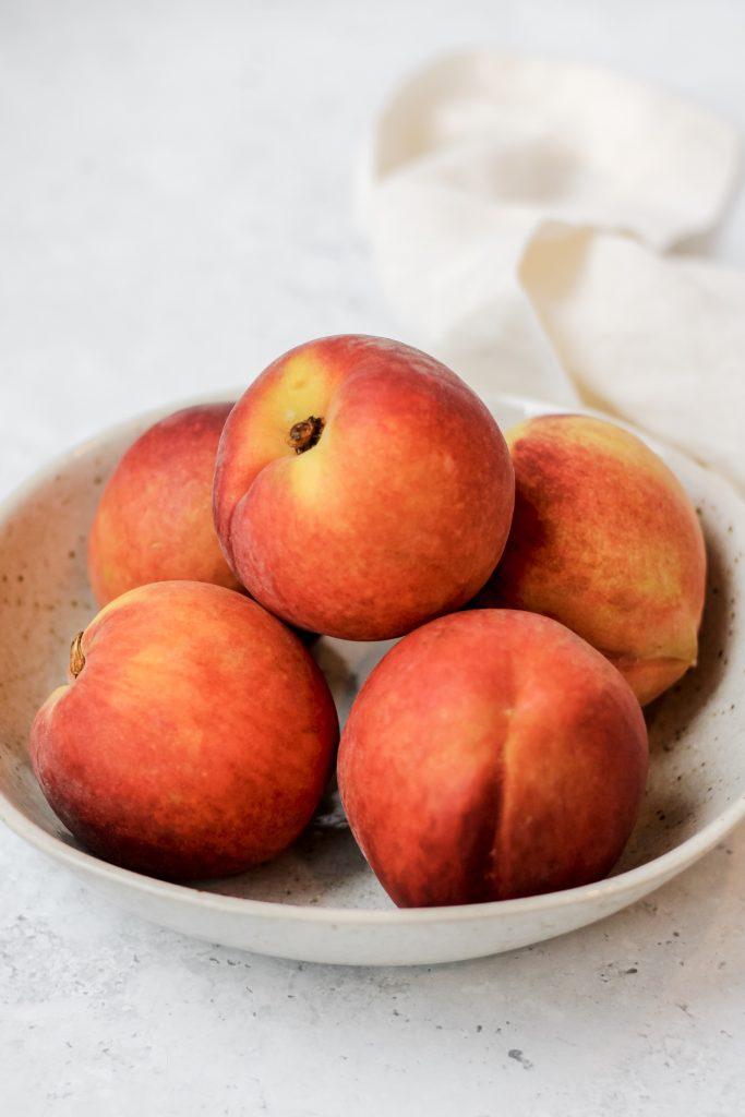 mini paleo peach cobblers
