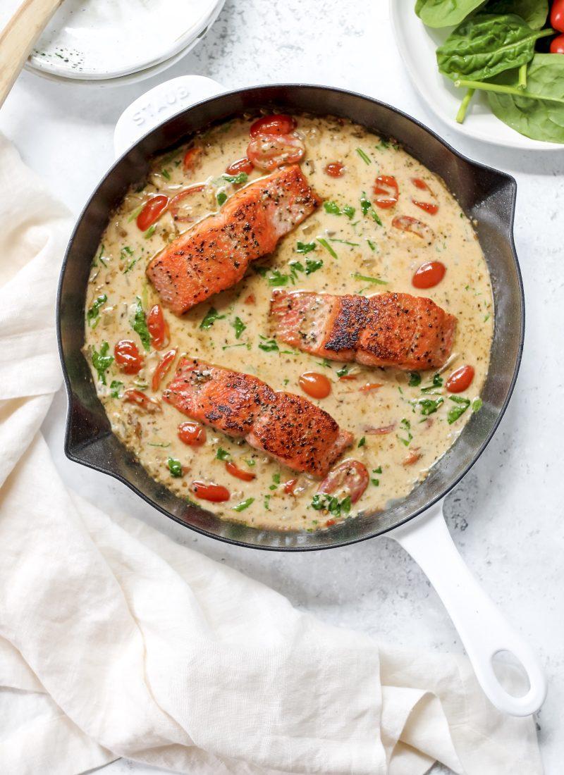 creamy tuscan salmon (dairy-free & paleo!)