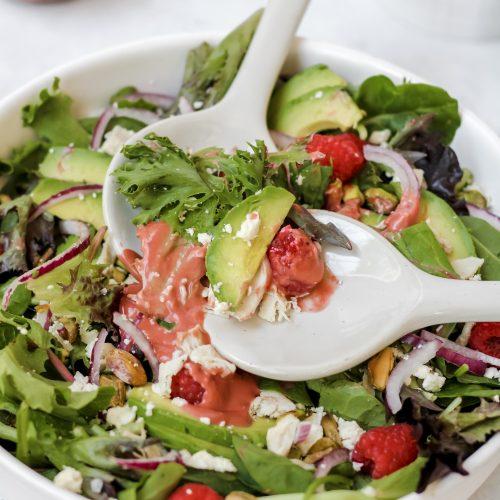 raspberry pistachio salad
