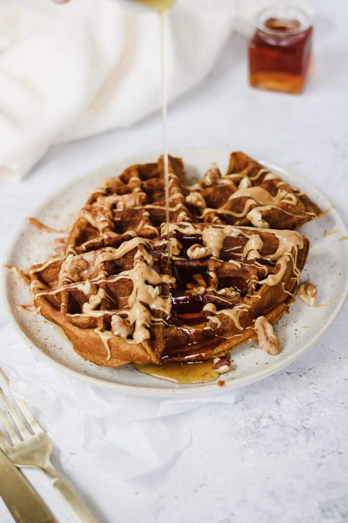 pumpkin spice protein waffle