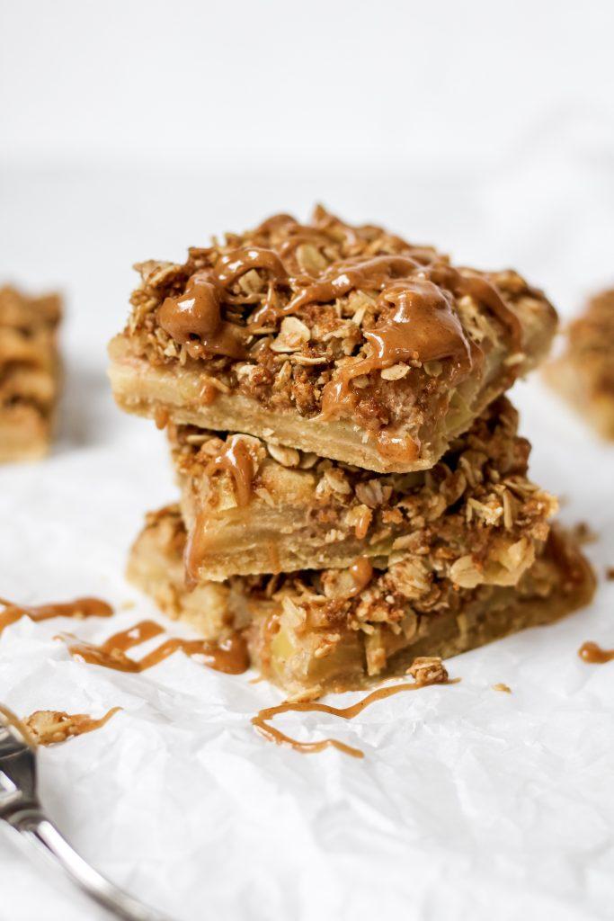 healthy apple pie bars